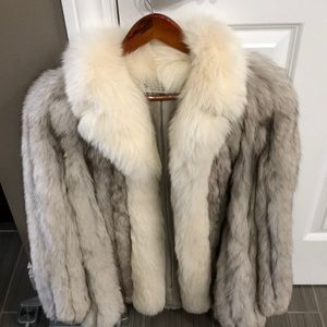 Jackets & Blazers - Vintage Real fox fur coat.  Size small